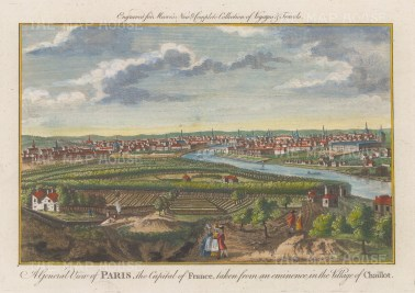 "Moore: Paris. 1780. A hand coloured original antique copper engraving. 10"" x 8"". [FRp1649]"