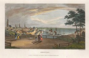 "Kelly: Hamburg. c1840. A hand coloured original antique steel engraving. 8"" x 5"". [GERp1256]"
