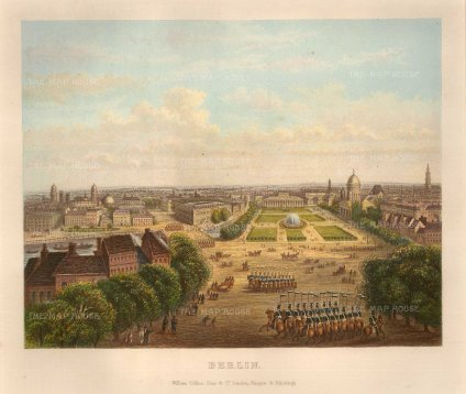 "Collins: Berlin. c1870. A hand coloured original antique chromolithograph. 10"" x 7"". [GERp1259]"