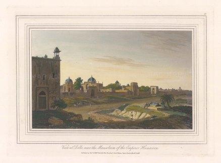 View at Delhi: Near the Mausoleum of the 16th century Emperor Humayun