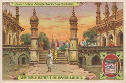 """Liebig: Mosque of Ibrahim Rauza, Bijapur, 1900. An original antique chromolithograph. 4"""" x 3"""". [INDp1533]"""