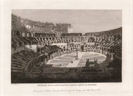 "Cottafavi: Colosseum. c1843. An original antique etching. 11"" x 8"". [ITp2077]"