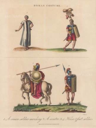 Roman Costume: Cavalry, Senator and Soldiers