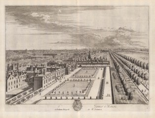 St. James's: Bird's eye view over St. James's Palace and Pall Mall looking East to the City.