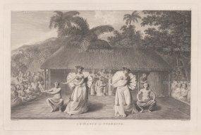 Matavai Bay: Dance in Otaheite. After John Webber, artist on the Third Voyage.