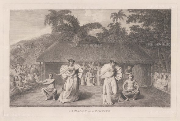 Matavai Bay: Dance in Otaheite. After John Webber, artist on the Third Voyage.