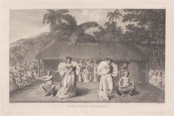 Matavai Bay. Dance in Otaheite. After John Webber, artist on the Third Voyage.