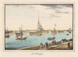 "Alexandriev: Peter and Paul Fortress, St Petersburg. 1828. A hand coloured original antique lithograph. 16"" x 12"". [RUSp746]"