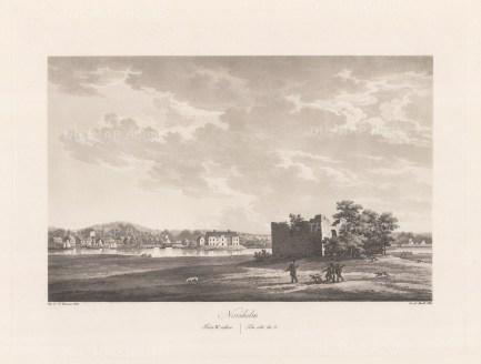 "Thersner: Norsholm, Sweden.1820. An original antique aquatint. 13"" x 9"". [SCANp283]"