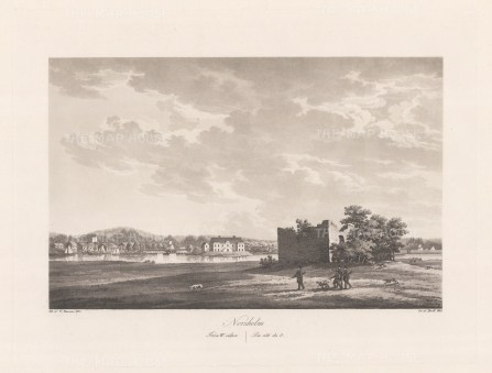 "Thersner: Norsholm, Sweden.1820. An original antique aquatint. 13"" x 9"". [SCANp283]"