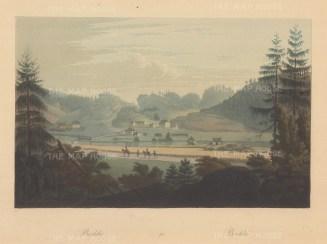 "Boydell: Brekke, Norway. 1820. An original colour antique aquatint. 14"" x 10"". [SCANp337]"