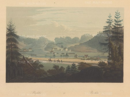 "Boydell: Brekke, Norway. 1820. An original colour antique aquatint. 14"" x 10"". [SCANp337]"