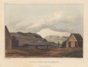 "Mackenzie: Eyafialla Iokul, Iceland. 1811. An original colour antique aquatint. 7"" x 5"". [SCANp366]"