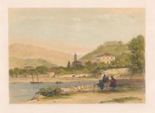 """Vivian: Bilboa. 1838. An original colour antique lithograph. 13"""" x 9"""". [SPp1000]"""