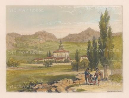 "Vivian: San Miguel, Vitoria. 1838. An original colour antique lithograph. 9"" x 7"". [SPp1048]"