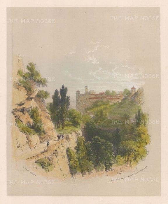 View near the Fountain of the Hazel Nuts: (Fuente del Avellano).