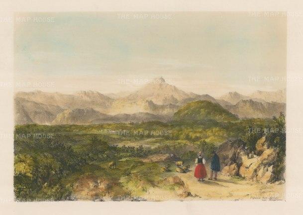 "Vivian: Pyrenees. 1838. An original colour antique lithograph. 14"" x 10"". [SPp837]"
