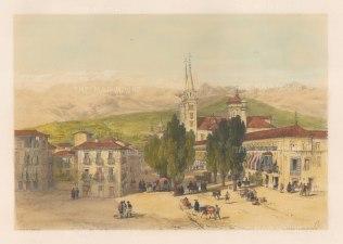 "Vivian: Carrera del Darro, Granada. 1838. An original colour antique lithograph. 15"" x 10"". [SPp845]"