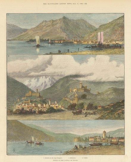 Views of Locarno, Bellinzona and Lugano.