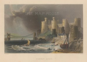 "Bartlett: Conway Castle. 1841. A hand coloured original antique steel engraving. 7"" x 5"". [WCTp489]"