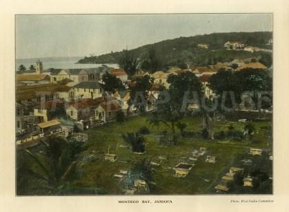 """WIC: Montego Bay, Jamaica. c1900. A hand coloured original antique photo-lithograph. 9"""" x 7"""". [WINDp1157]"""