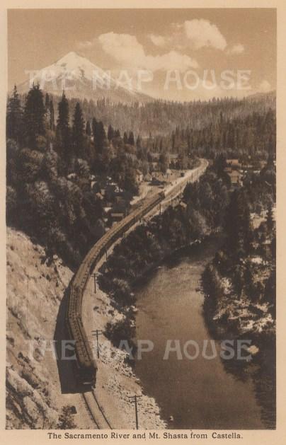 "Anonymous: Sacramento Valley from Castella. c1910. An original antique photogravure. 4"" x 6"". [USAp4887]"