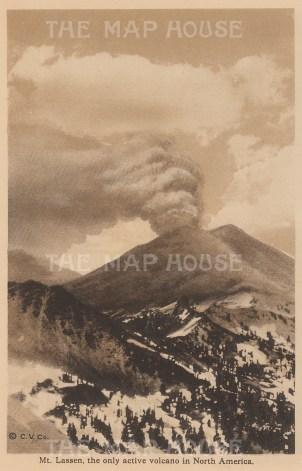 """Anonymous: Mount Lassen. c1910. An original antique photogravure. 4"""" x 6"""". [USAp4888]"""