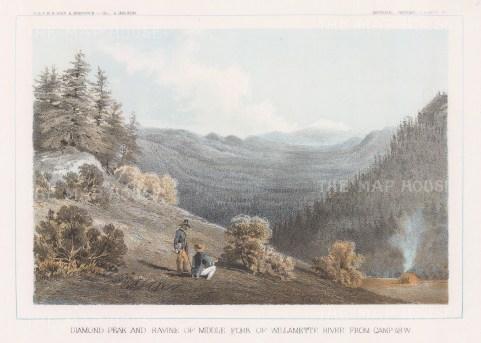 Wilamette River: Diamond Peak and ravine.