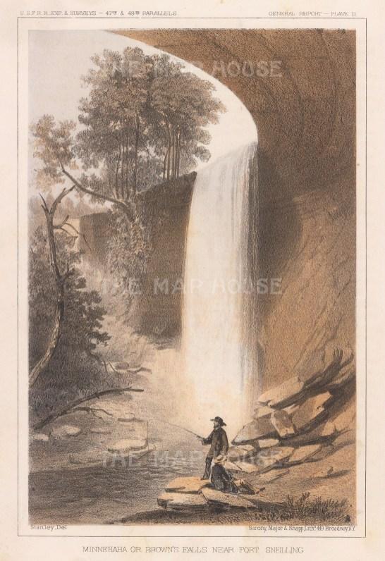 Minnehaha Falls near Fort Snelling.