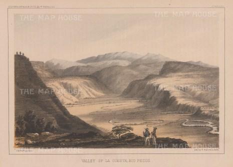 Rio Pecos: Valley of La Questa.