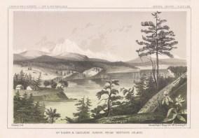 Cascade Range: Mount Baker from Whitby's Island.