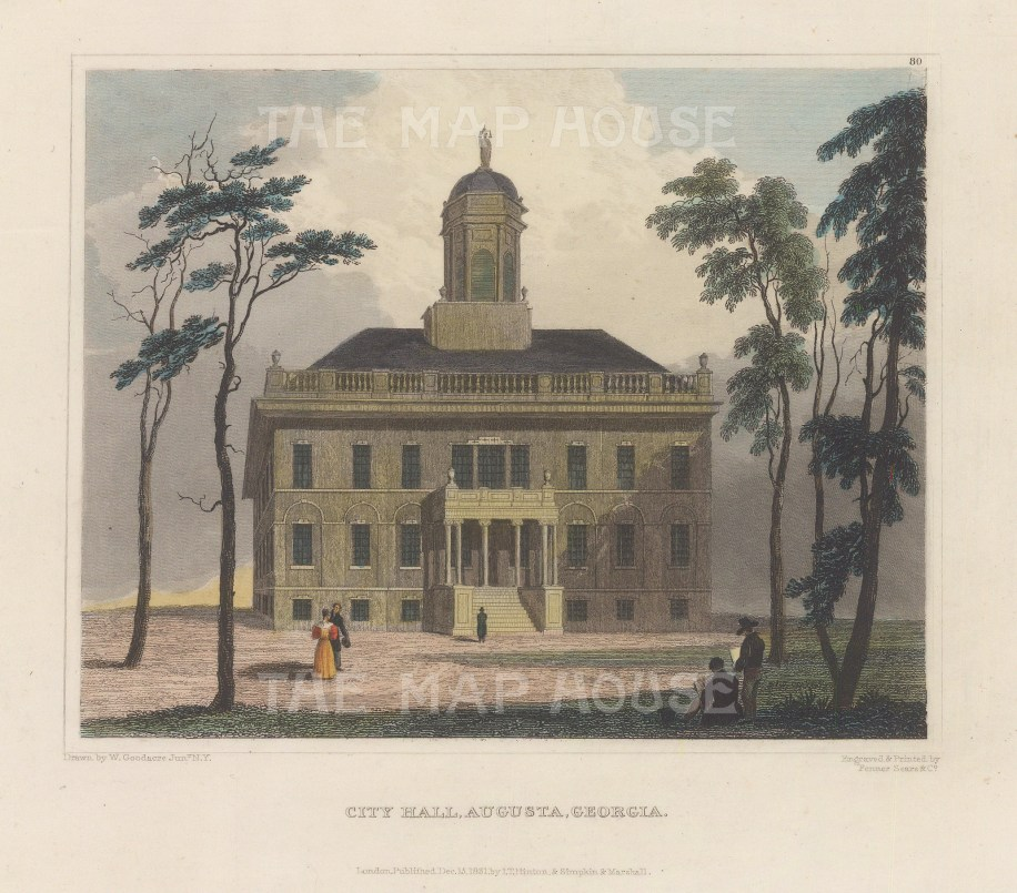 Augusta: View of the Capitol building.