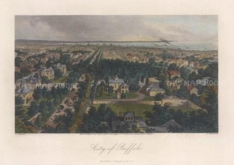 Buffalo: Panorama of the city looking towards Lake Erie.
