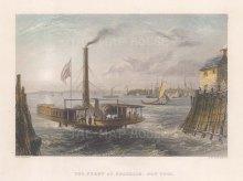 "Bartlett: New York City. 1838. A hand-coloured original antique steel engraving. 8"" x 6"". [USAp5013]"