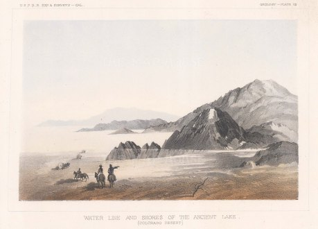 Colorado Desert (Sub Sonoran Desert): View of the ancient Lake Cahuilla.