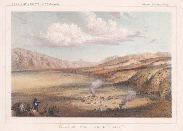 Teofulio Summit (Warners Pass), San Diego: View from San Felipe towards the hills