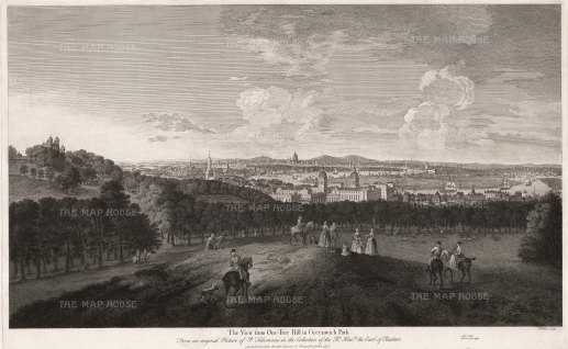 Panoramic view from One Tree Hill, Greenwich.
