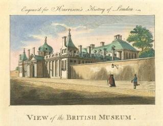 "Harrison: British Museum. 1775. A hand coloured original antique copper engraving. 7"" x 5"". [LDNp10364]"