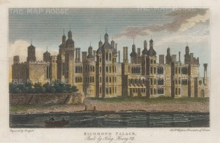 Richmond Palace. View on what is now Cholmondeley Walk between Old Palace Lane and Friars Lane.