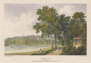 Richmond Hill from Petersham. After William Westall, RA.
