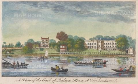 Twickenham. Radnor Gardens. With a view of the now demolished Radnor House.