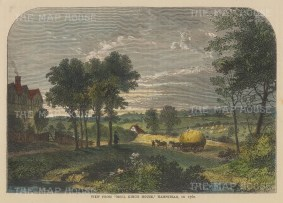 Hampstead from Haverstock Hill (Moll King's House) in 1760