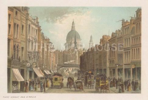 """Nelson: Fleet Street. 1889. An original antique chromolithograph. 5"""" x 4"""". [LDNp10640]"""
