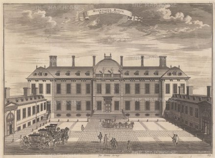 Montagu House. Established in 1753 and based on the collection of Sir Hans Sloane, it opened as museum in 1759.