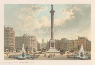 Nelson's Monument, Trafalgar Square.
