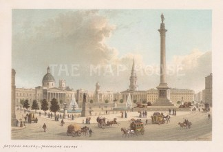 View of the National Gallery and St Martin-in-the-Fields.