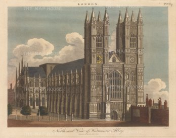 Northwest perspective. Engraved by John Pass.
