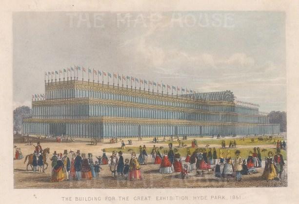 "Tallis: Crystal Palace, Hyde Park. 1851. A hand coloured original antique steel engraving. 6"" x 4"". [LDNp10790]"