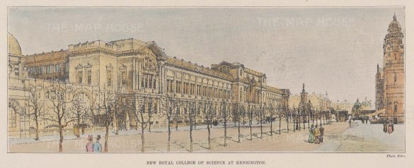 (Royal College of Science). View of the Henry Cole wing.