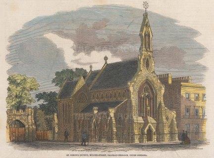 Chelsea. St Simon's Church, Milne Street, Cadogan Terrace.